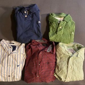 5 Aeropostale/ American Eagle Dress Polo Shirts XL